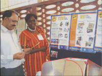 Margaret Owino, SCI�s eastern Africa director, exhibited at the PCIA meeting in Bangalore