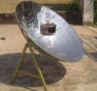 Solar Serve�s parabolic solar cooker is being deployed in the village of Hoa Quy