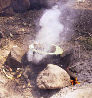 Traditional three-stone fires cause health and environmental problems; integrated cooking methods are cleaner and safer