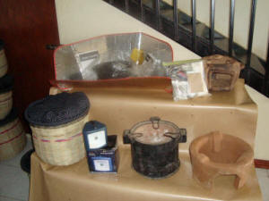 Solar and integrated cooking devices on display in SCI�s Kisumu office