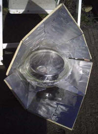 A goal of the Sun Catchers Project is to bring village-size solar ovens to institutions in developing countries